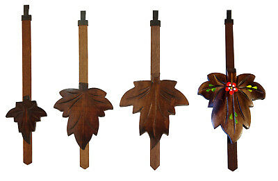 New German Cuckoo Clock Maple Leaf Pendulum - Choose from 4 Sizes!