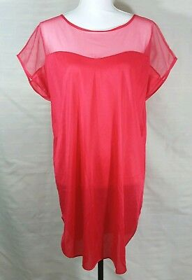 095369ad71d Vintage UndercoverWear Womens One Size Red Nightgown Lingerie Sleepwear USA