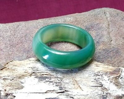 Fortune Finder Green Agate Ring ::Attract Wealth & Riches Money Magick Talisman
