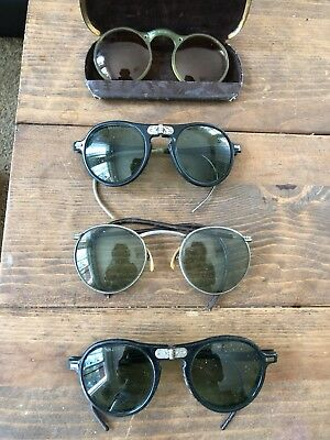 Antique (at least VERY old), Welders Goggles & Sunglasses- 4 Pairs