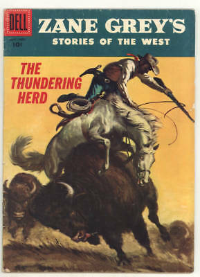 1956 ZANE GREY STORIES OF THE WEST #31 THE THUNDERING HERD. Nice!