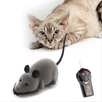 Cat Kitten Pet Wireless Remote Control RC Electronic Rat Moving Mouse Mice Toys