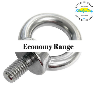 (100x) bulk buy Eye bolt with Collar 8M 13mm thread 304 ECON Stainless Steel