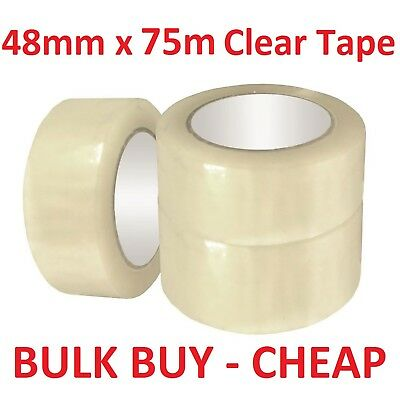 48mm x 75m Clear Packing Tape Packaging Tape Adhesive Bulk Cheap Moving Storage