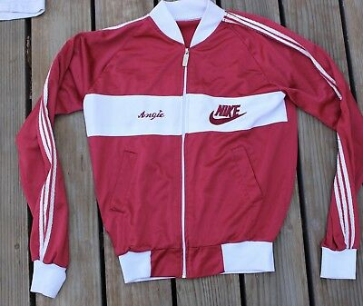 Rare Vintage Nike Tracksuit Long Sleeve Shirt Angie Red Maroon Track Suit