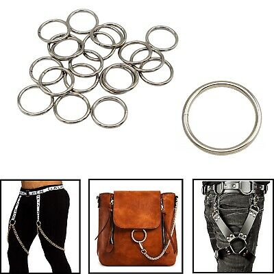 Silver O Rings Stainless Steel for Handbag Backpack Pet Collar Luggage Bag Strap