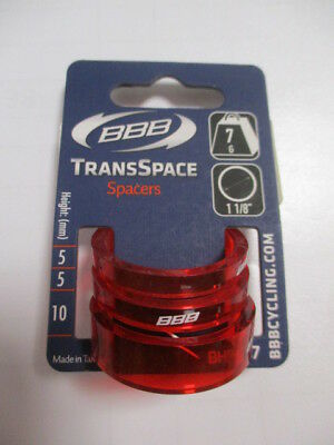 BBB  TRANS SPACE BHP-37  Spacer Set  2x5 / 1x10mm  Farbe: Rot (N97)1934
