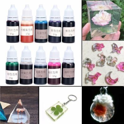10 Bottle 10g Epoxy UV Resin Dye Colorant Resin Pigment Mixed Color DIY Craft YK