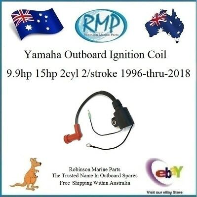 1 x New RMP Yamaha Outboard Ignition Coil 9.9hp-15hp 2/Strokes # R 63V-85570