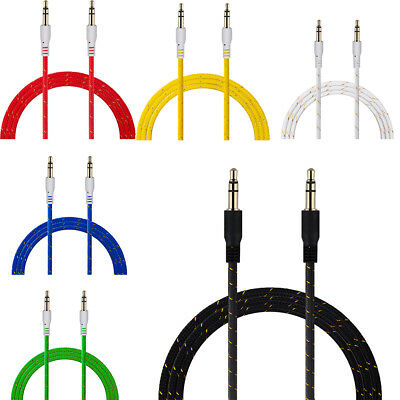 Extension Cord Plug Speaker Jack Aux Cord Nylon Auxiliary Cord Audio Cable