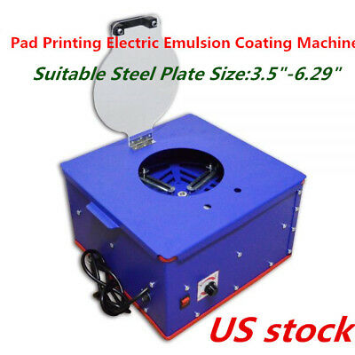 "US Electric Pad Printing Emulsion Coating Machine for Steel Plate is 3.5""-6.29"""