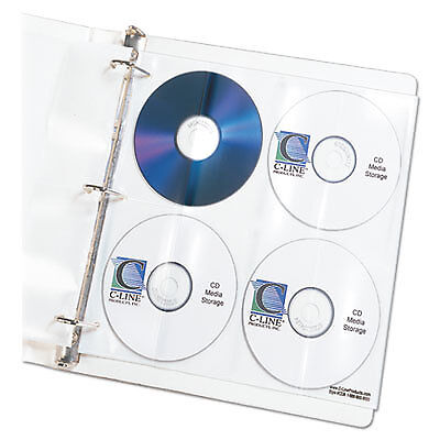 Deluxe CD Ring Binder Storage Pages, Standard, Stores 8 CDs, 5/PK 61948