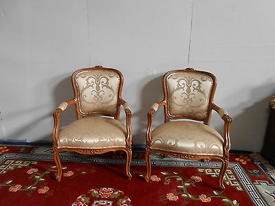 Antique Style French Pair Of Parlour Chairs.