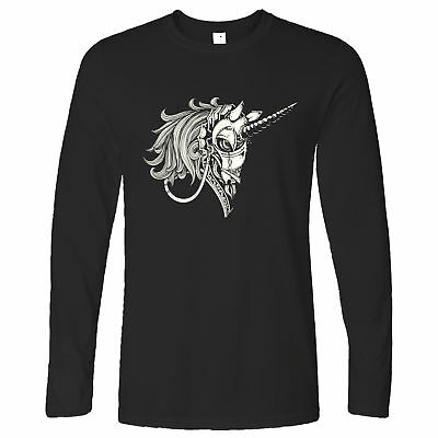 Gothic Art Long Sleeve Armoured Unicorn Graphic Rock Emo Goth Punk Metal Cool