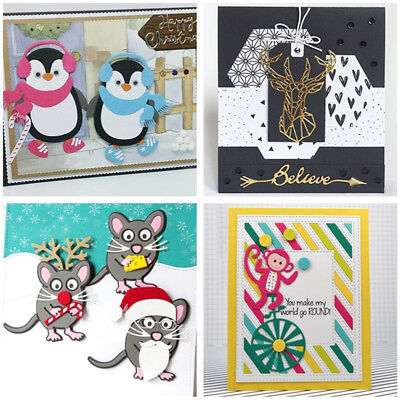 Christmas Animals Metal Cutting Dies Stencil Scrapbooking Paper Card Making DIY