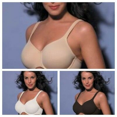 Berlei B145 Seamfree Minimiser Full Cup Bra, Black, White, Nude