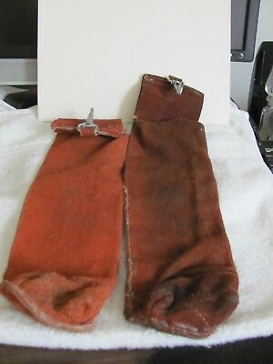 """(2) Red Ram Electrode Leather Holders """"Free s/h"""""""
