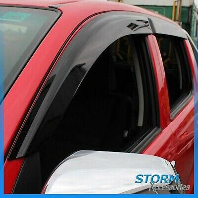 Toyota Hilux 2005-2015 On Double Cab Quad Stx Wind Deflectors - External Fit