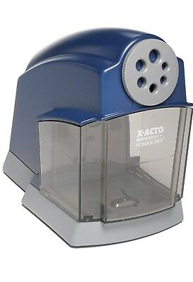 X-ACTO SchoolPro Classroom Electric Pencil Sharpener Heavy Duty Blue/Grey strong