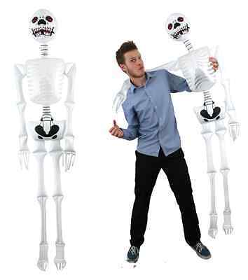 1x INFLATABLE HUMAN SKELETON LIFE SIZE 183cm 6ft HALLOWEEN DECORATION PARTY PROP