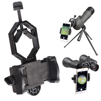 Mobile Phone Adapter Holder Mount Telescope Spotting Scope Bracket Universal x1