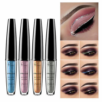 Pudaier Waterproof Eyeshadow Flash Liquid Eyeliner Metallic 16 Colors Cosmetic R