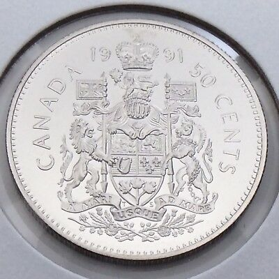1991 Proof Canada 50 Fifty Cent Half Dollar Canadian Uncirculated Coin G491