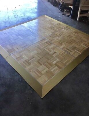 36 Panels of Portable Wood Dance Floor with Edges Cam-lock