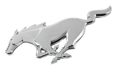 "2015-2019 Genuine Ford OEM Mustang 7.5"" x 2.5"" Chrome Running Horse Pony Emblem"