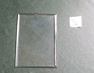 Bevelled glass panel for carriage clock or similar 5.9 cms x 8.1 cms