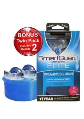 SMARTGUARD Elite Night Guard 2 Guards & 1 Cleaning Case for Clenching & Grinding