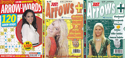 Arrow word Books - 3 Book set - 300+ Puzzles - New (Set 236)