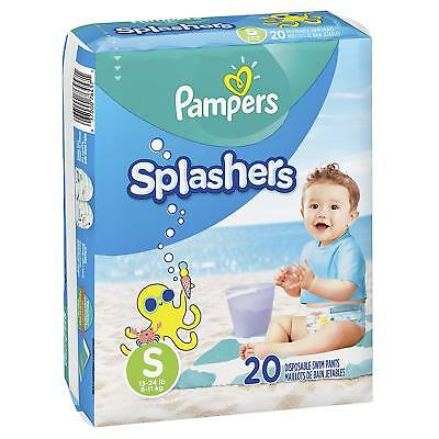 Pampers Splashers Swim Diapers Disposable Pants Small (13-24 lb) 20 Ct  (Pack 1)