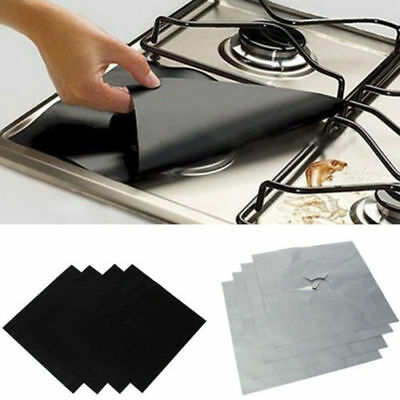4/8/12 PCS Gas Range Stove Top Burner Protector Liner Cover For Cleaning WT