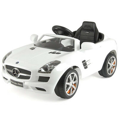 Toyrific Mercedes-Benz SLS Electric Ride On Car With 6v Battery White For 3+