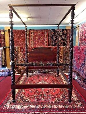 Antique Poster Bed - Carved c1825 - Delivery Available - Gorgeous!
