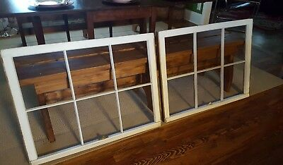 Architectural Salvage, Mid Century, ANTIQUE WINDOW SASH FRAMES, *SPECIAL SET*