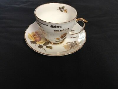 Duchess Bone China England Golden Anniversary Cup And Saucer