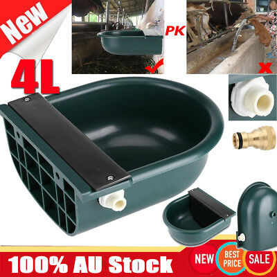 4L Automatic Water Trough Sheep Horse Cow Cattle Bowl Auto Fill Drink Bowl AU