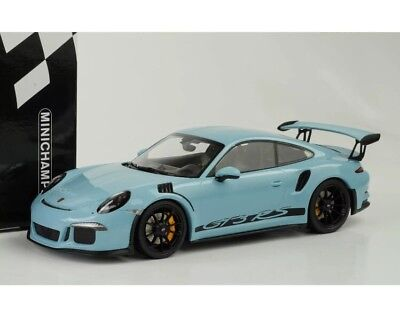 New 1/18 Minichamps 2015 Porsche 911(991) GT3 RS Gulf Blue Black Rims 222pcs