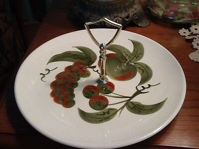"""Stangl Orchard Song Center Handled Tray Serving Plate 10 3/4"""""""