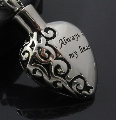 NEW! Always In My Heart Cremation Jewelry Pendant Keepsake Memorial Urn Necklace