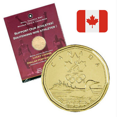 SEALED Special Ed. Uncirculated Lucky Loonie CANADA Olympic Committee 2004 Coin