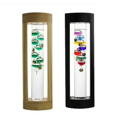 Glass Galileo Thermometer Colorful Temperature with Gift Box Home Decor