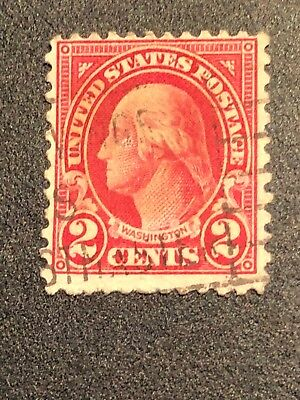 RARE Red Line George Washington 2 Cent 1898 Postage Stamp