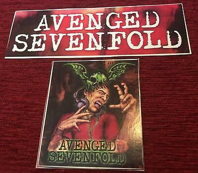 2 AVENGED Sevenfold All Excess sticker Decal RARE COPY Music Band PROMO