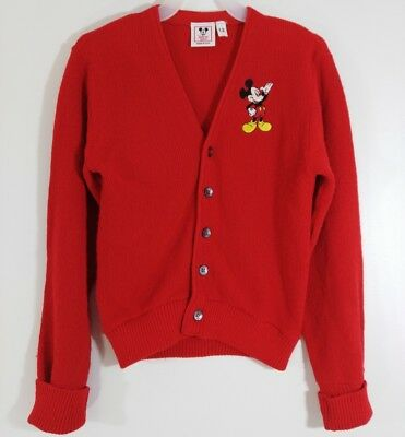 Disney Wear Vintage Mickey Mouse Knit Sweater USA Size 12 Red