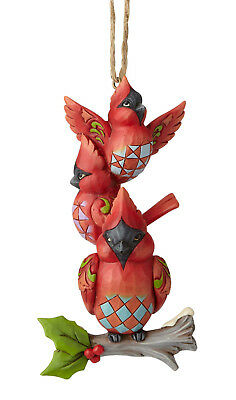 Enesco Jim Shore Heartwood Creek Stacked Cardinals Ornament NIB Item#  6001517