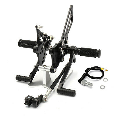 For Aprilia RSV1000 R/Factory 2004-2008 Rear Set Rearsets Footpegs Rest Black
