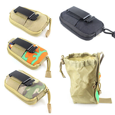 Tactical Utility Magazine Mag  Foldable Bag Molle Belt Hunting Drop Dump Pouch
